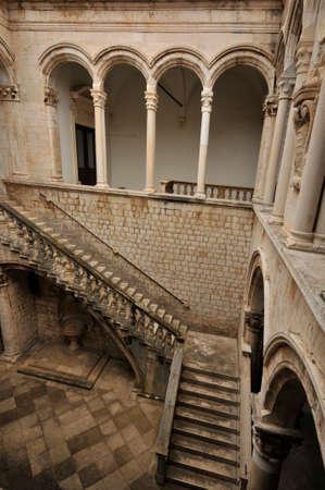 Atrium of the Rectors palace in Dubrovnik, Croatia - Editorial