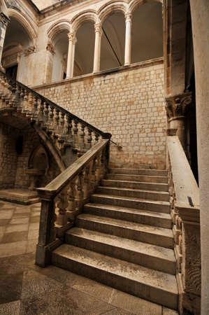 Atrium of the Rectors palace in Dubrovnik, Croatia Editorial