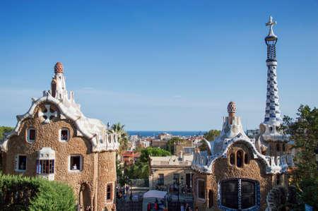 Antonio Gaudis Park Guell, Barcelona, Spain, September 2016