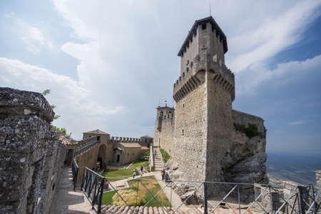 San Marino - June, 28, 2017: Castle of San Marino Editorial
