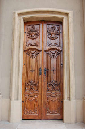 Wooden decorative door