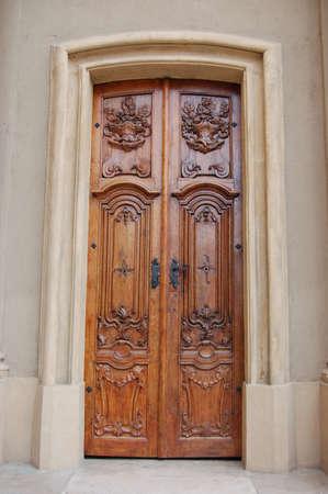 Wooden decorative door