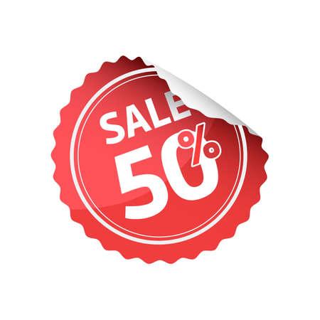 50: Sale 50 Sticker