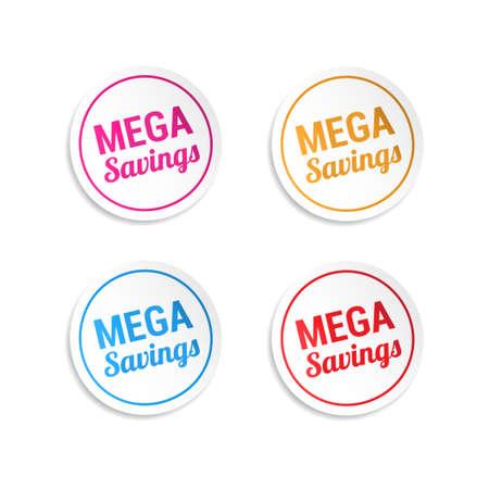 mega: Mega Savings Stickers