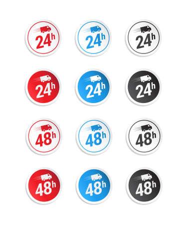 24h: 24h  48h Stickers Illustration
