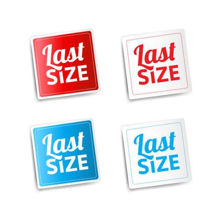size: Last Size Stickers