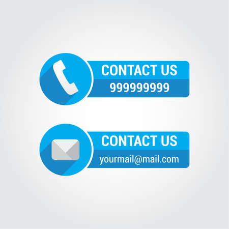 email contact: Contact Us Banners