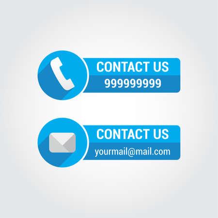 Contacteer ons Banners Stockfoto - 45080666