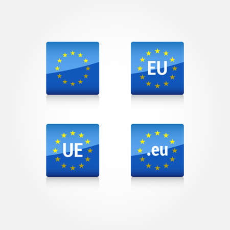 evropský: European Union Icons Ilustrace
