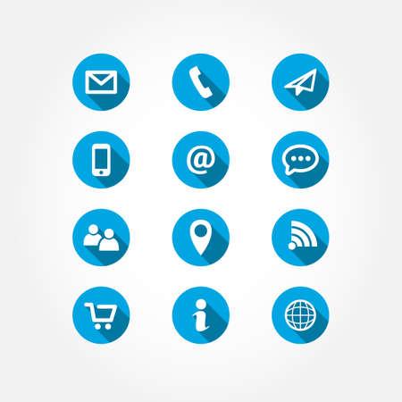 correo electronico: Contacta Icon Set Sombra