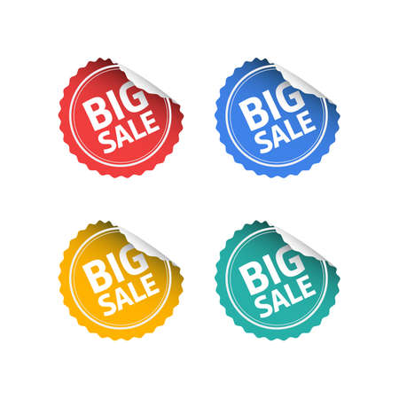 adverts: Big Sale Round Stickers