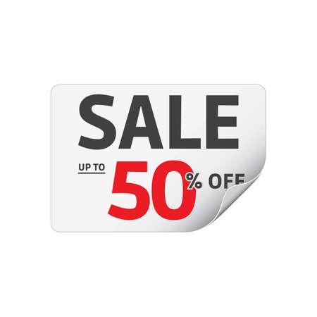 50: Sale 50 Off Sticker Illustration