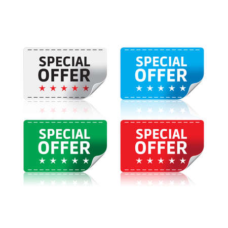 Special Offer Stickers Stock Illustratie