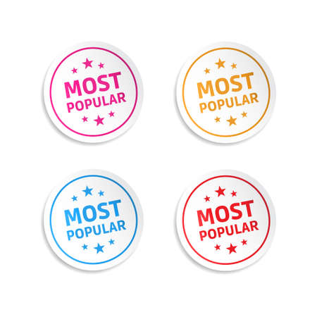 most popular: Most Popular Stickers Illustration