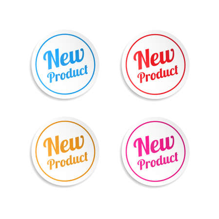 Nieuw product Stickers Stock Illustratie