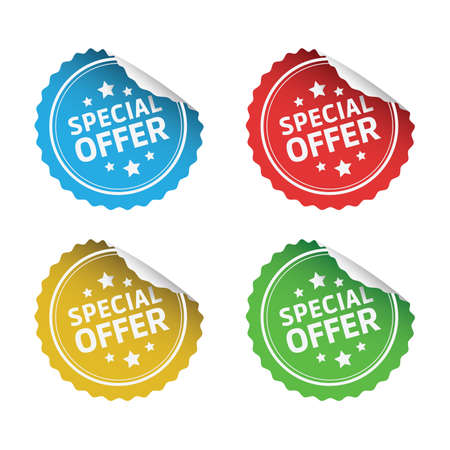 Speciale Stickers Aanbieding Stockfoto - 45088594