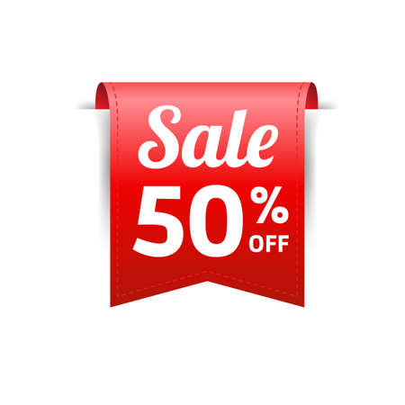 Sale 50 Off Label Ilustrace