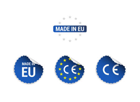 Made in EU CE-keurmerk Stickers Stock Illustratie