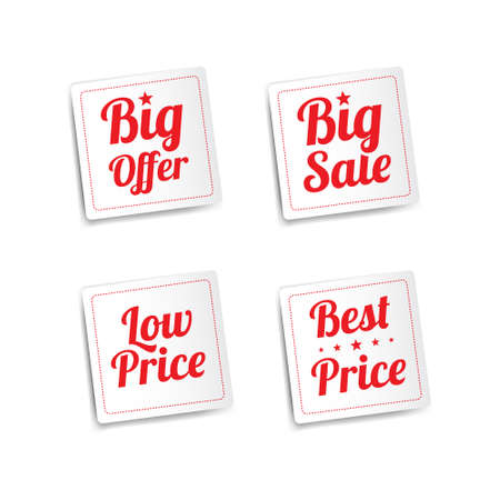pricetag: Offer  Sale Stickers
