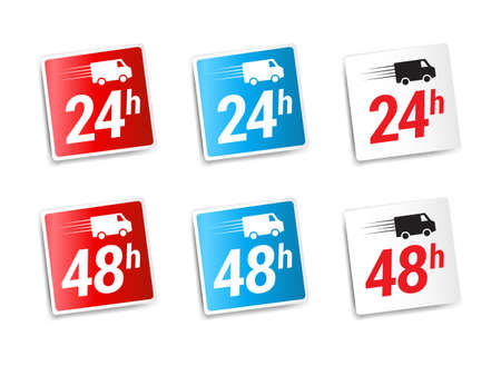 24h: 24h  48h Delivery Stickers