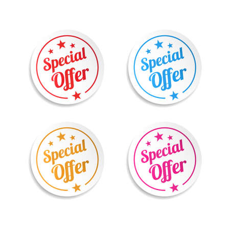 Special Offer Stickers Vectores