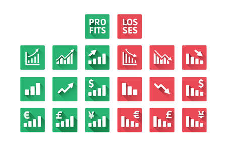 perdidas y ganancias: P�rdidas y Ganancias Iconos