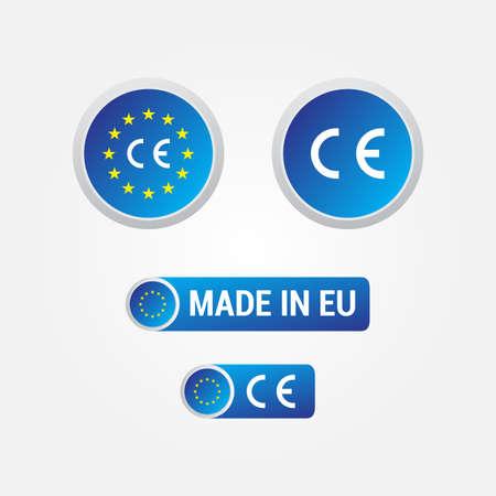CE-markering van de Europese Unie Labels & Icons Stockfoto - 39181219