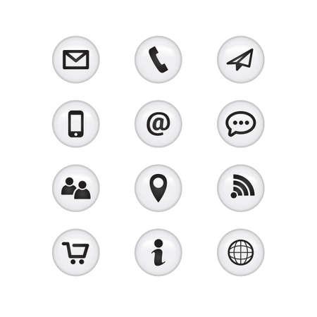 Contact Glass Icons  イラスト・ベクター素材