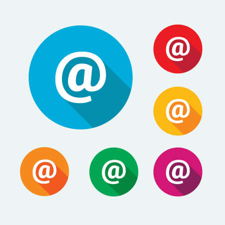 Mail & Contact Icons Illustration