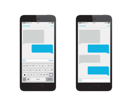 Phone Message Template Stock fotó - 38735978