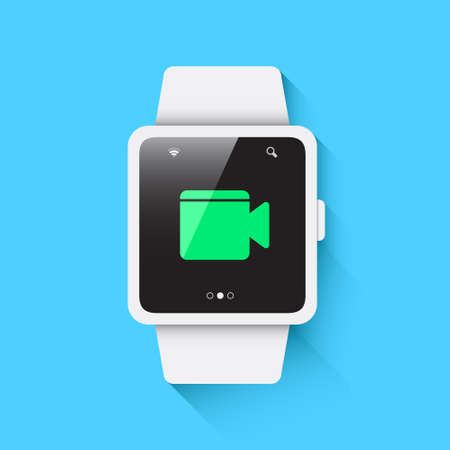 watch video: Smart Watch Video Call Icon Illustration