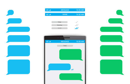 chat bubbles: Phone Message Template