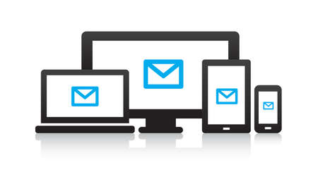 pc icon: Multi-Mail Device Icons Illustration