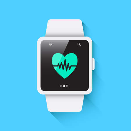 rate: Smart Watch Heart Rate Icon Illustration