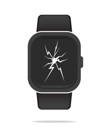 broken screen: Smart Watch Broken Screen
