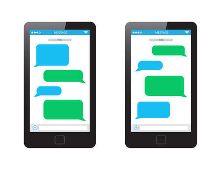 text message: Message Phone Template