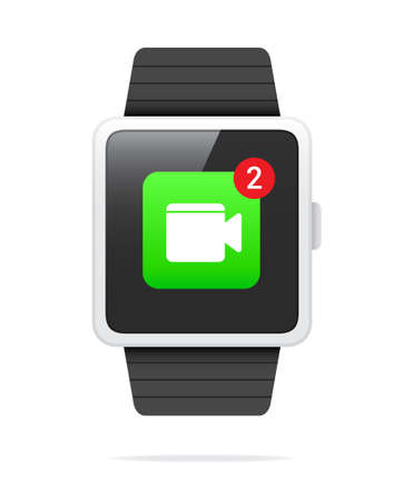 watch video: Smart Watch Video Call Notification Icon