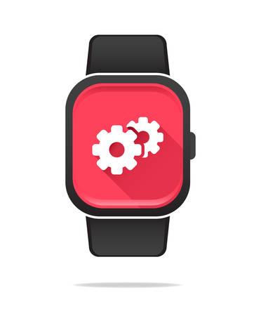 configuration: Smart Watch Configuration Icon Illustration