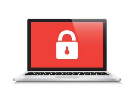 Beveiliging Gesloten Laptop Stockfoto - 46662092