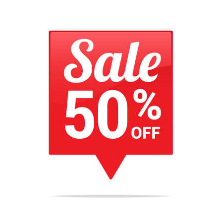50  off: Sale 50 Off Tag