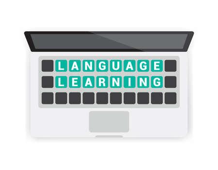 learning language: Language Learning Keyboard Laptop