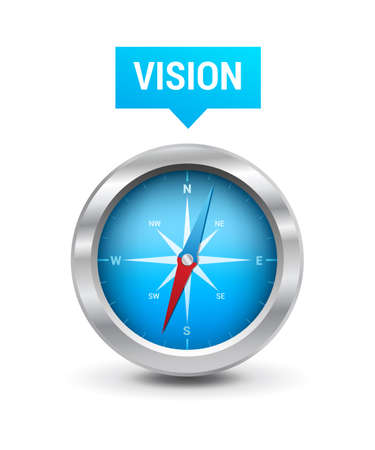 anticipation: Compass  Vision Tag Illustration