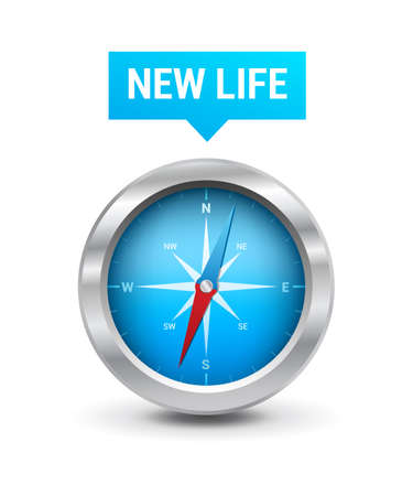 better icon: Compass  New Life Tag Illustration
