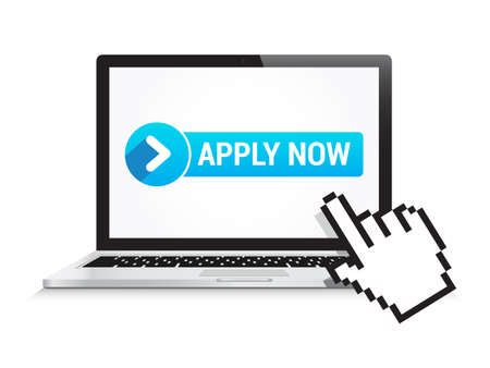 Laptop Apply Now Button