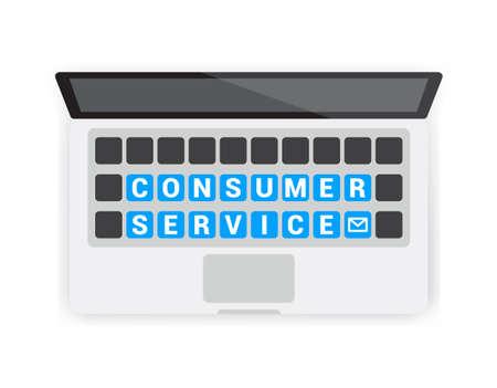 consumer: Consumer Service Keyboard Laptop Illustration