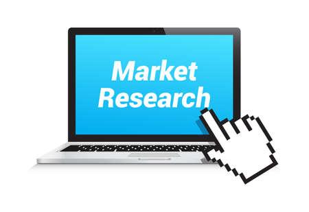 marktforschung: Market Research Laptop Hand Pointer