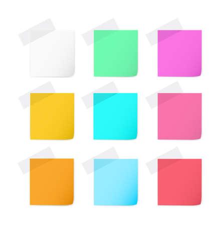 paper notes: Paper Notes Set Illustration