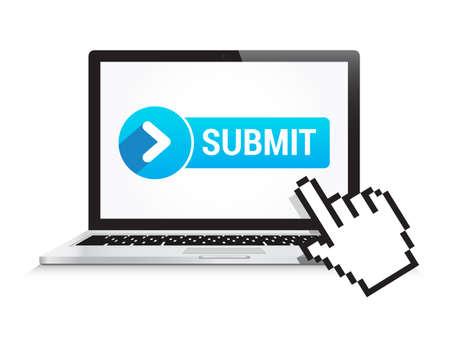 submit button: Laptop Submit Button