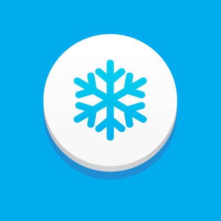 Sneeuw Icon Blauwe Achtergrond