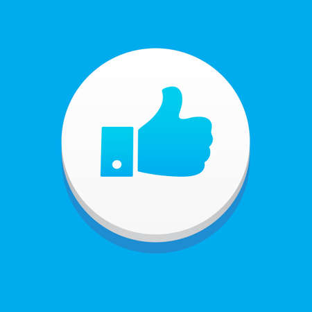 like button: Like Button Blue Background